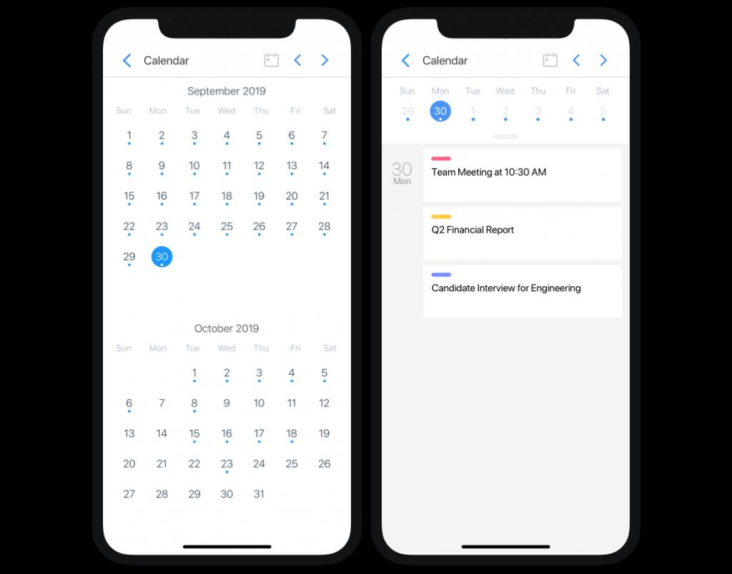 Taskade Mobile Calendar for Teams