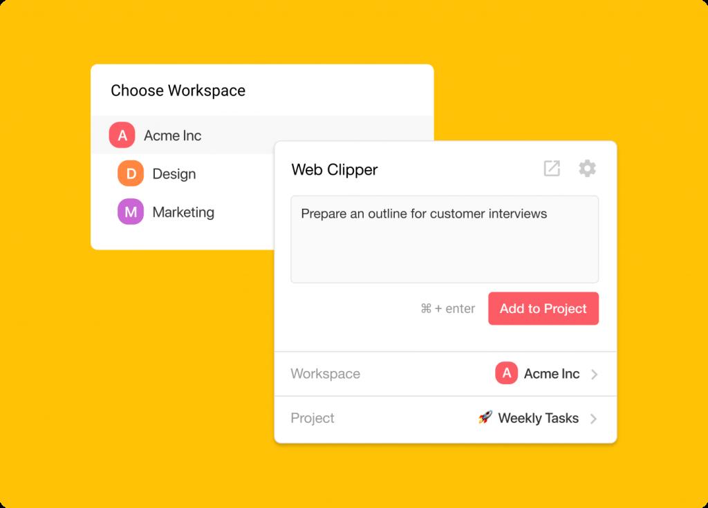 Taskade Chrome Firefox Web Clipper Extension