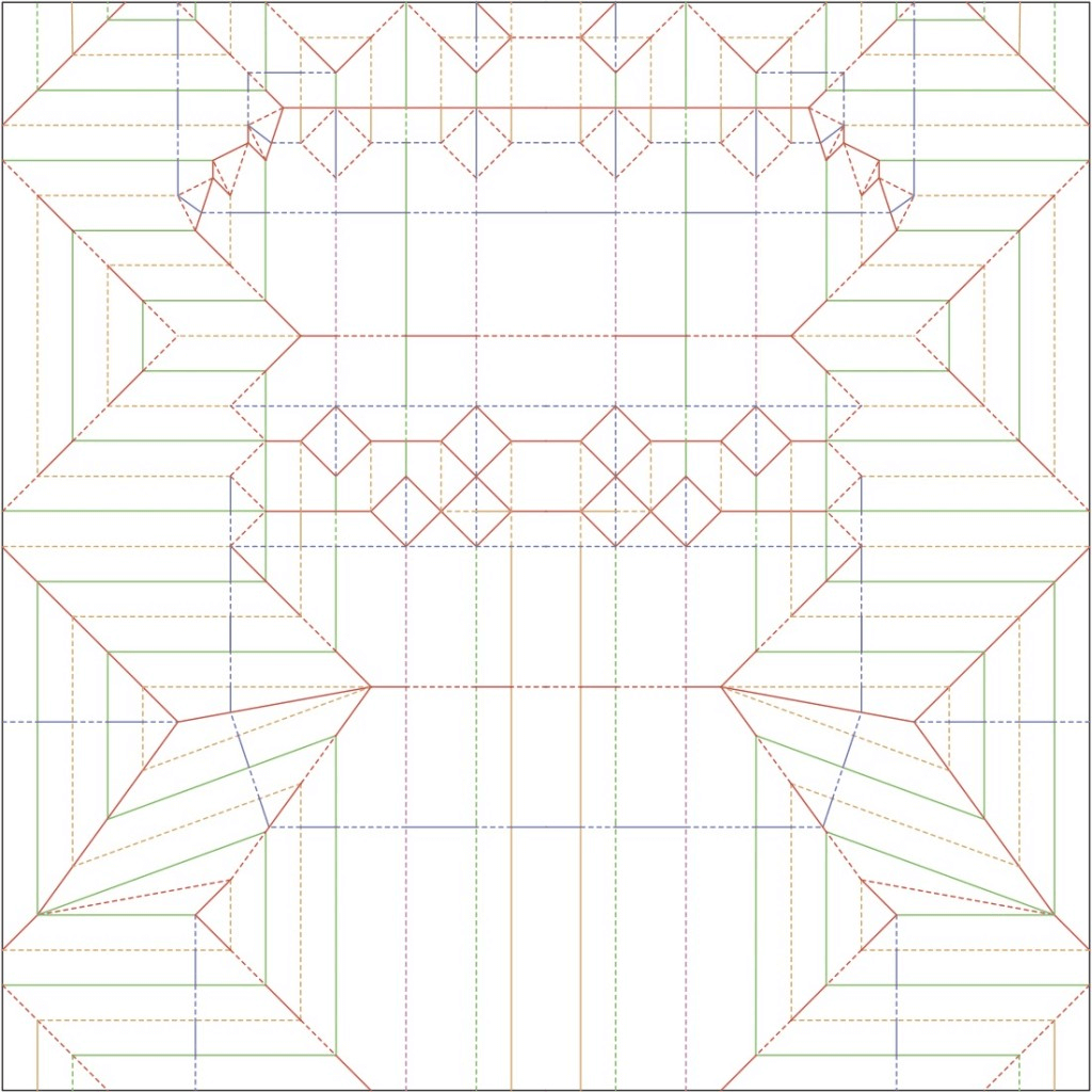 chrysina Beetle crease pattern