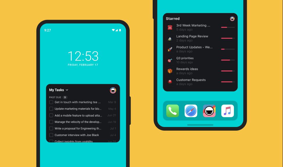 Taskade Mobile Widgets